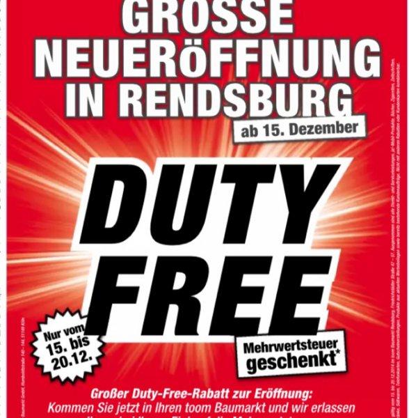 Toom Rendsburg (Lokal) 19% bis 20.12.14