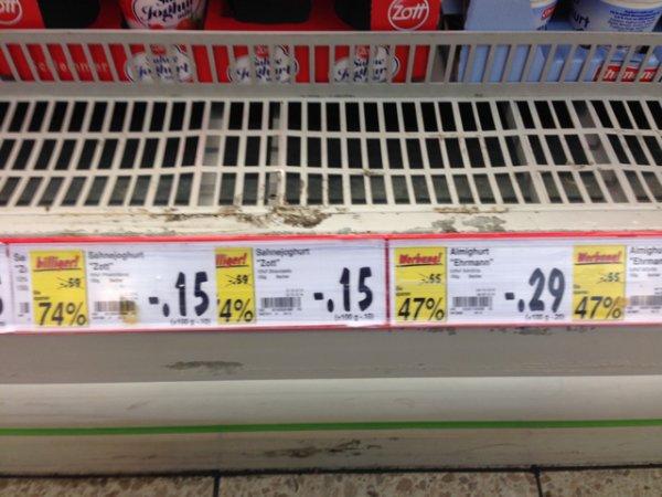 Kaufland Hamm: Zott Sahnejoghurt für 15 Cent, almighurt für 29 Cent