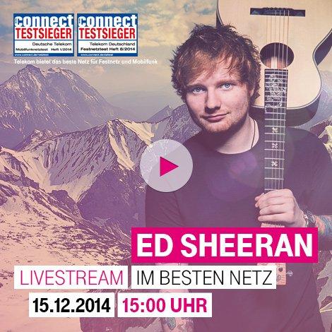 [stream] Ed Sheeran - live auf der Zugspitze (ab 15Uhr)
