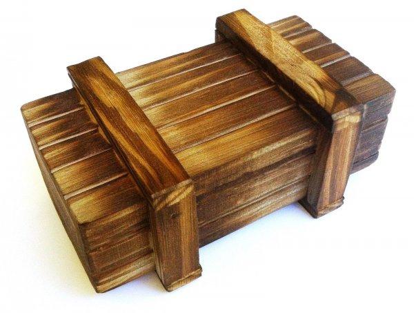 Geocaching: magische Box aus Holz Kiste mit Geheimfach @ebay