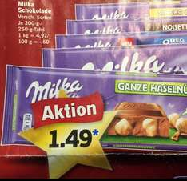 Milka 250g Tafel für 1,49 ab Montag den 22.12 (LIDL)