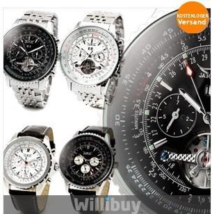 Automatik Chronograph Chrono Armbanduhr nur 9.99 euro ink Versand