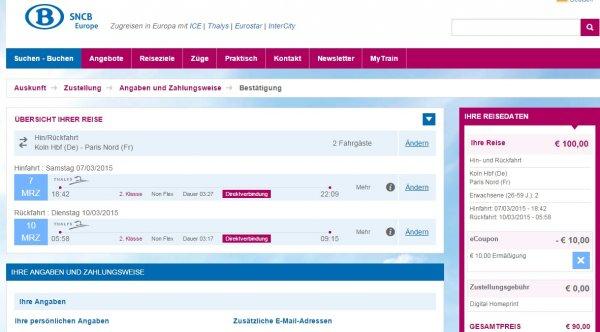 Von Köln nach Paris mit Thalys für 22,50 Euro pro Strecke bei 2 Personen