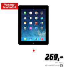 Ipad 4 Retina 16gb @Media Markt online 269,-