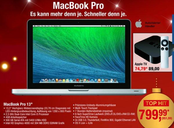 "[METRO, offline] Mac Book Pro 13"" non-Retina MD101D/A 952 €"