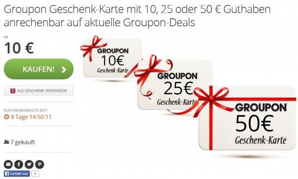 Cashback Deal: 10, 25, oder 50€ Groupon Geschenkkarte zum Preis des Gutscheinwertes kaufen und 9% qipu Cashback erhalten