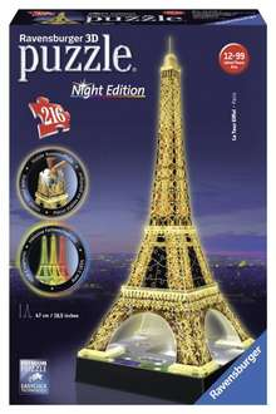 [Amazon] Ravensburger 12579 - Eiffelturm bei Nacht - 3D-Puzzle-Bauwerk Night Edition für 19.99 (Prime)