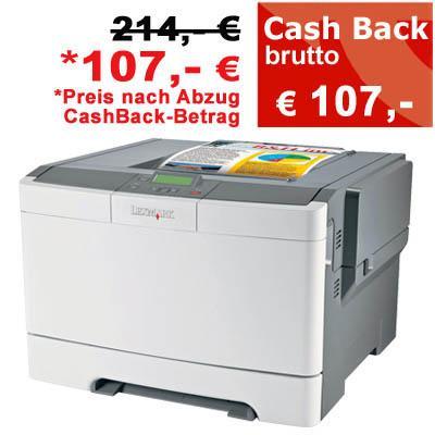 Lexmark C540N Farblaserdrucker für 107 € bei Printus24