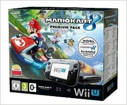 [Amazon] Nintendo Wii U Premium Pack schwarz inkl. Mario Kart 8 (vorinstalliert) 32 GB Konsole