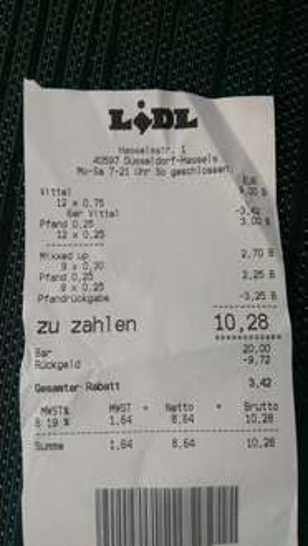 6x 2L Vittel nur 2.79€ Lidl Düsseldorf Benrath