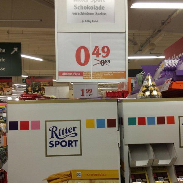 Ritter Sport verschiedene Sorten 0,49 € Globus Neutraubling