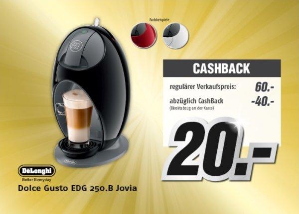 DeLonghi Dolce Gusto EDG 250.B Jovia Kaffee Kapselautomat (lokal) MediMax Süd-Ost NUR 18.12.2014