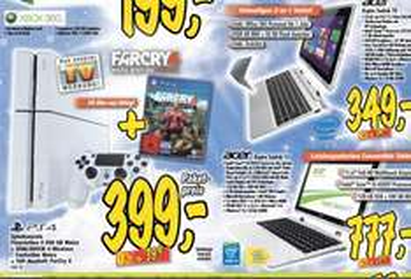 ´[Technoland Plochingen] PS4 weiss + Farcry4 für 399,-