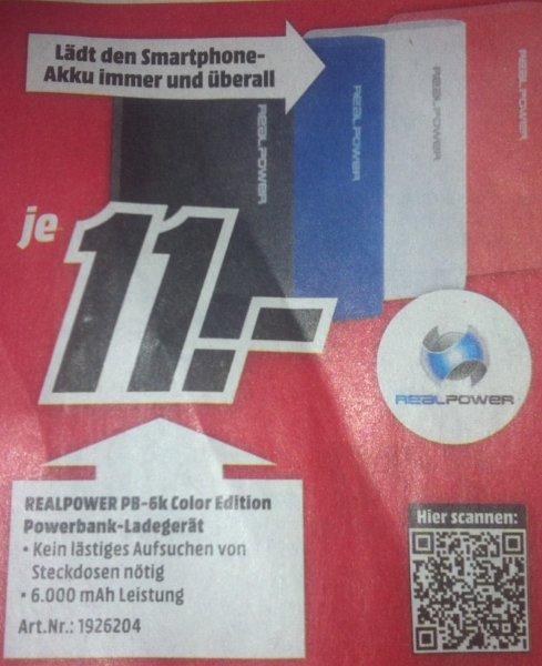 MM realpower 6000 mAh Powerbank 11€ (evtl. nur lokal Saarbrücken)