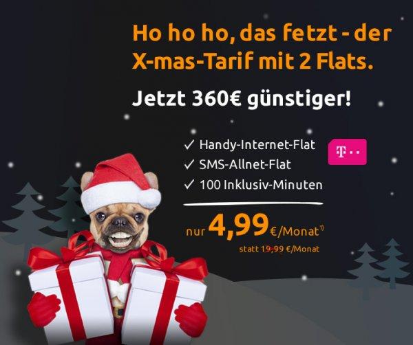 @Crashtarif.de: T-Mobile Flat ligt 100 statt 19,99€ für nur 4,99€ mtl.