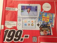 Nintendo 3DS XL weiß double Pack, Tomodachi Life + Angry Birds Star Wars, 199 € @mediamarkt