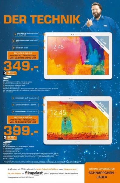 [Lokal Saturn Iserlohn] Samsung Galaxy Note 10.1 16 GB LTE (399 €) und TabPro 12,2 32 GB (349 €)
