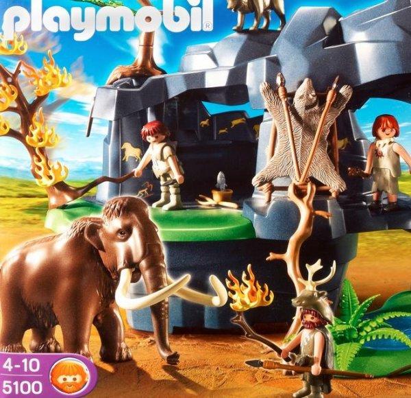 Playmobil: Große Steinzeithöhle mit Mammut 5100