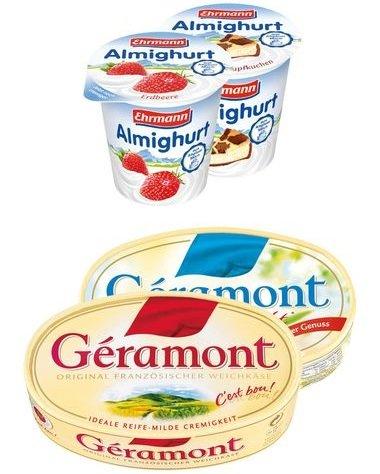 [LIDL] (bundesweit) ab Donnerstag 18.12 Ehrmann Almighurt und Géramont Franz. Weichkäse im Angebot