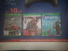 Saturn Hamburg Ryse Legendary Edition oder FORZA 5 oder  Project Spark Je 19 Euro XBOX ONE