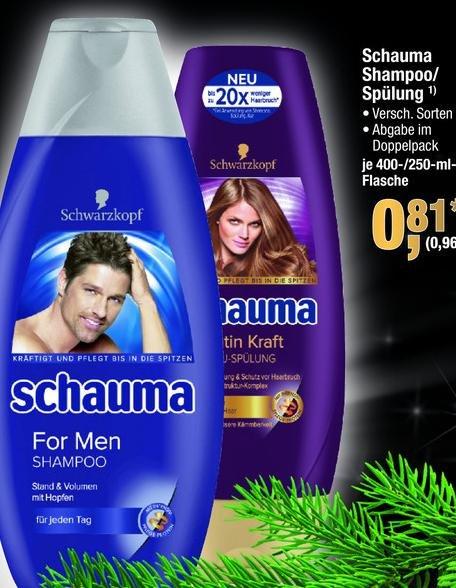 METRO bundesweit - schauma schampoo und spülung verschiedene sorten für 0,96 Euro