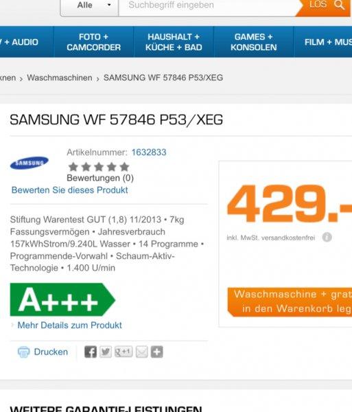 Samsung WF 57846 + Samsung Galaxy Tablet 3