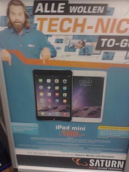 iPad mini (Saturn Berlin/Brandenburg) für nur 189 Euro