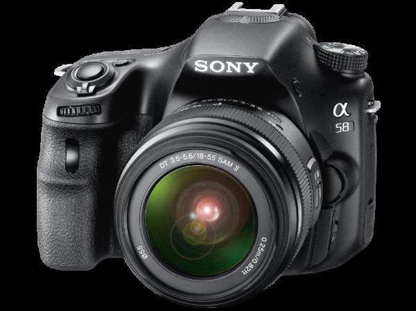 Mediamarkt ONLINE -  Sony SLT-A 58 K inkl. 16 GB SDHC Karte und Tasche für 349€