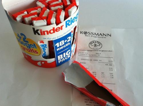 [OFFLINE] Kinderriegel 18+2 Big Pack für 2,66 bei Rossmann