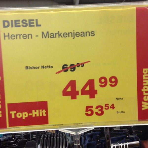 Offline: Diesel Jeans Herren deutschlandweit bei der Metro für nur 53,54€