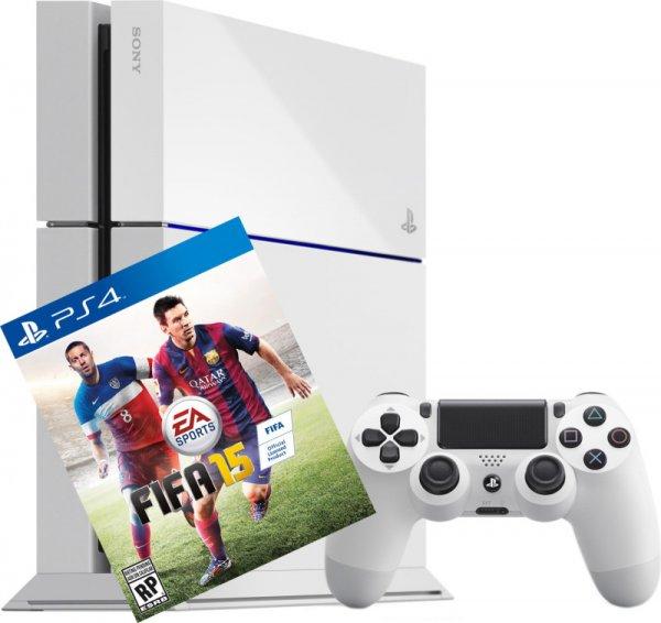 Playstation 4 500GB Weiß + FIFA 15 für 335,05 (Lokal SCHWEIZ)