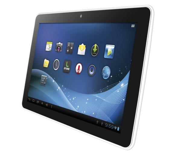 10.1 Zoll Tablet, 1GB Ram/ 4GB Speicher, 1Ghz CPU, Mali 400GPU, 1024x600, Android 4.1.2 - Logicom / Amazon Frankreich