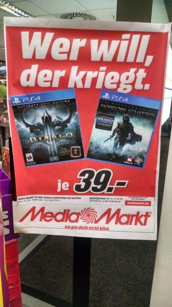 [Lokal] Mordors Schatten und Diablo III PS4 @ MediaMarkt Köln Hohe-Str