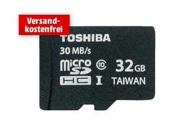 Toshiba MicroSDHC 32GB Class 10 für 12€ inkl. Versand @Media Markt