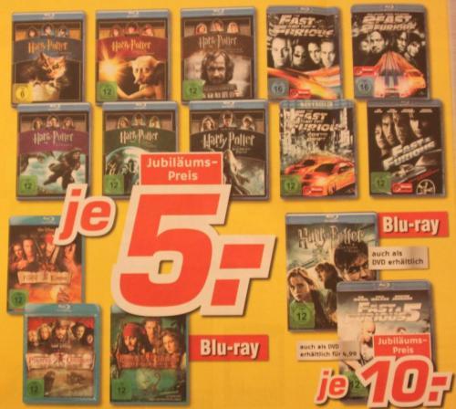 5 Jahre Medimax Bernau bei Berlin verschiedene Blu-Rays ab 5 Euro