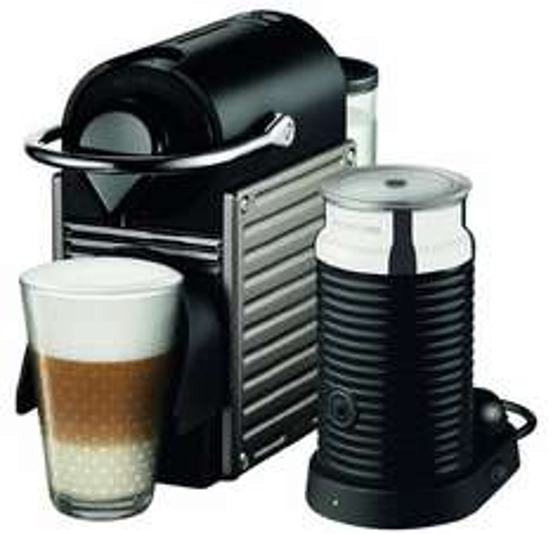 Lokal Saturn Bremen: Krups XN 301T Nespresso Pixie Electric Titan mit Aeroccino3 109,00 Euro abzgl. 70,00 Euro Cashback effektiv für 39,00 Euro