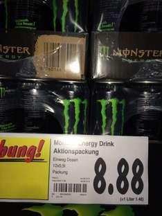 [Lokal ?! Kaufland RE] 12 x 0,5L Monster Energydrink