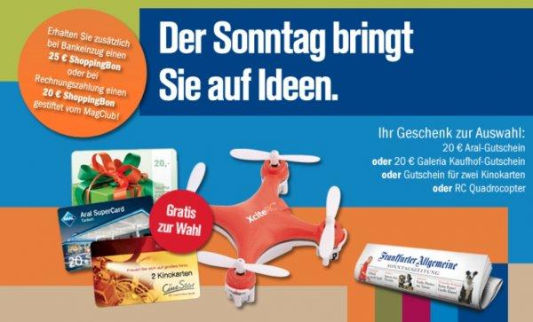 Frankfurter Allgemeine Sonntagszeitung für 3 Monate (rechnerisch 5€ Gewinn) @ MagClub