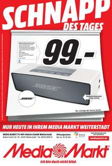 Bose SoundLink Mini Bluetooth Speaker in silber bei Media Markt Weiterstadt (LOKAL)