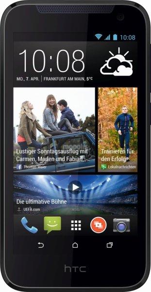 HTC Desire 310 Smartphone (11,4 cm (4,5 Zoll) FWVGA Display,Quad-Core,1,3GHz, 1GB RAM, 5 Megapixel Kamera, Android 4.2) für 96,95€  bei solity.de versandkostenfrei