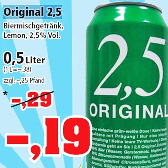 1 Dose Biermischgetränk für nur noch 19 Cent am Samstag bei [Thomas Philipps]