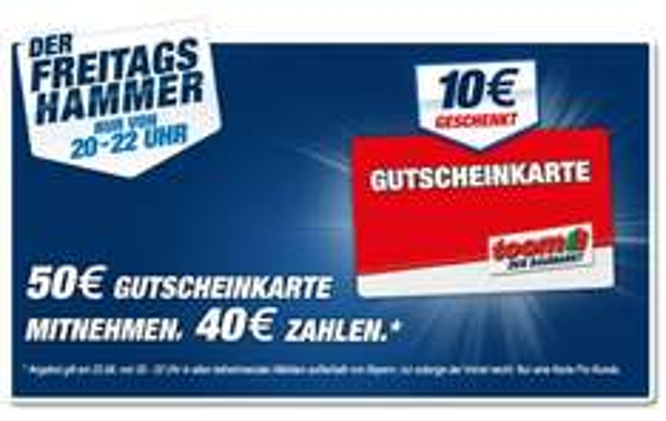 Nur Heute! Toom Baumarkt Gutscheinkarte 50€ für 40€
