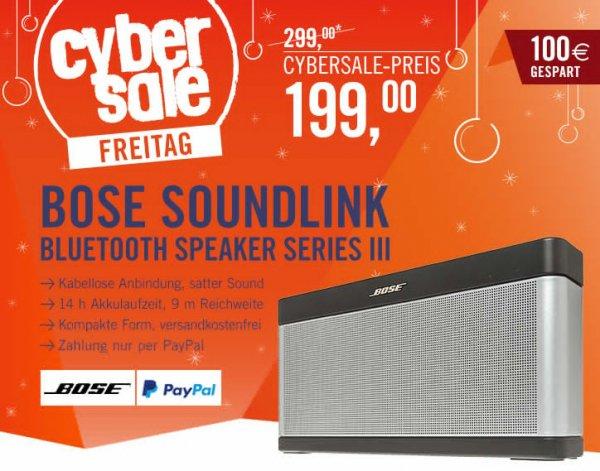 Cybersale Bose Soundlink Bluetooth Speaker lll, 199€, noch 62 Stück!
