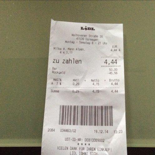 Milka Weihnachtsmann 130g bei Lidl 1,11 €