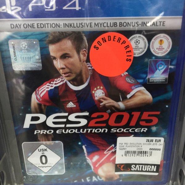 Saturn Essen - PES 2015 (PS4) für 29,99€