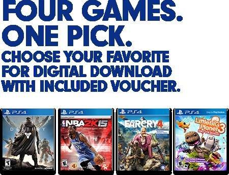 Destiny, NBA2K15, FarCry4, LBP3 PS4 Download Code bei Gamedealdaily für 24,77 €