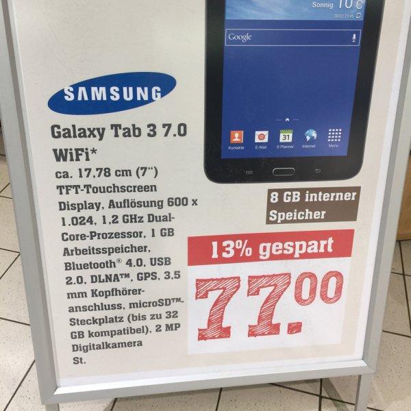 [lokal] Samsung Galaxy Tab 3 7.0 Lite Wifi mit Payback Gutschein für 69,40€ im Rewe Center Darmstadt