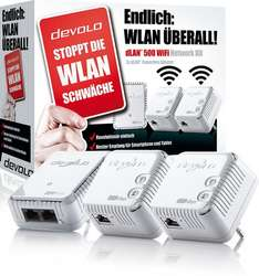 Saturn online /offline DEVOLO 9090 DLAN 500 WIFI Network Kit mit 3 Adaptern