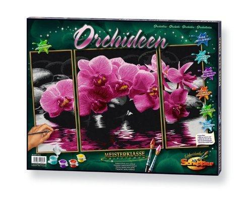 [Amazon. de] Malen nach Zahlen - Orchideen (Triptychon), 50x80 cm 23,64€ (Prime 20,64)