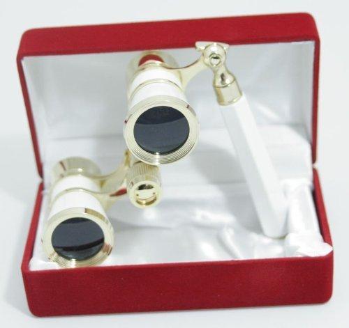 (Amazon) Oramics Opernglas Theaterglas Gold mit Ausziehbarem Griff in Geschenkbox für 23,48€